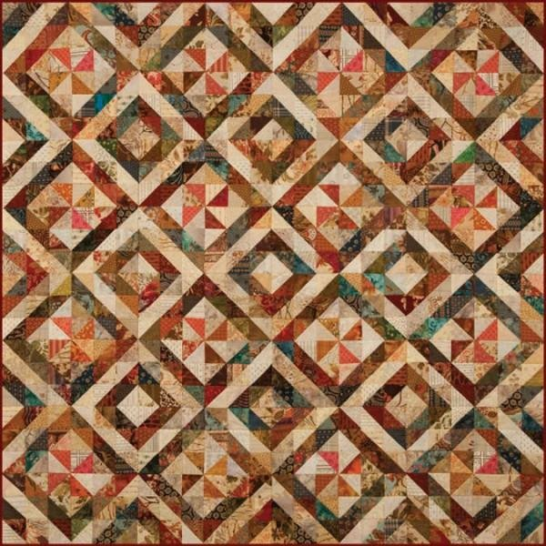 Triangle Swirl Pieced Quilt Pattern by Laundry Basket Quilts #LBQ-0286
