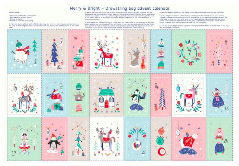 Merry & Bright - Advent Calendar Bags Panel