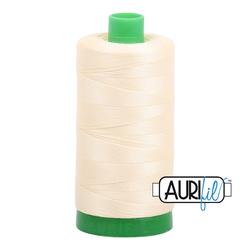 Aurifil Cotton Thread - #MK40SC6-2110 Light Lemon 40wt.