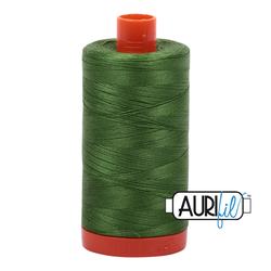 Aurifil Cotton Thread - #MK50SC6-5018 Dark Grass Green 50wt.