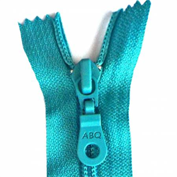 ABQ Designer Bag Zipper- Peacock Blue