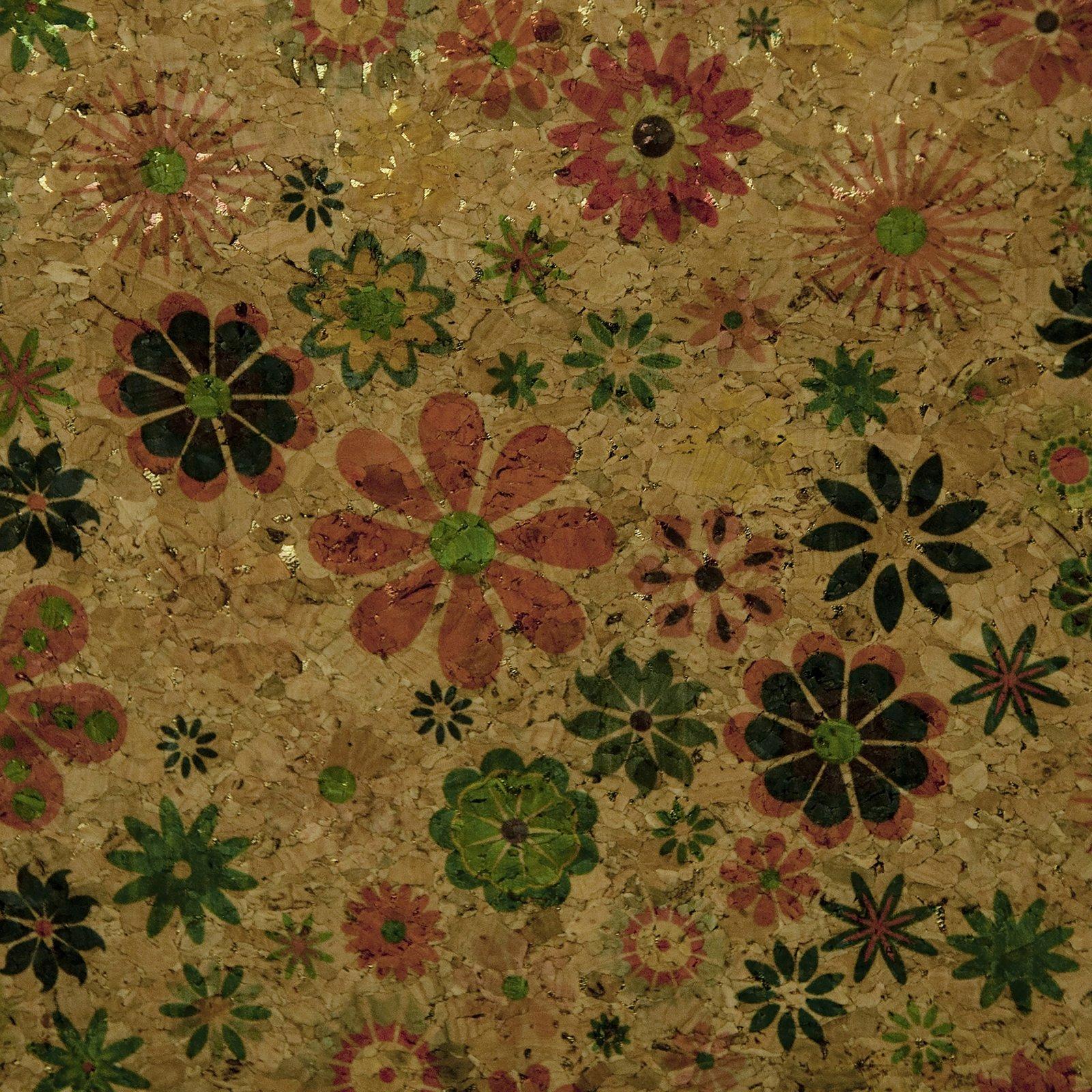 Cork Fabric - 18 x 15 plain floral