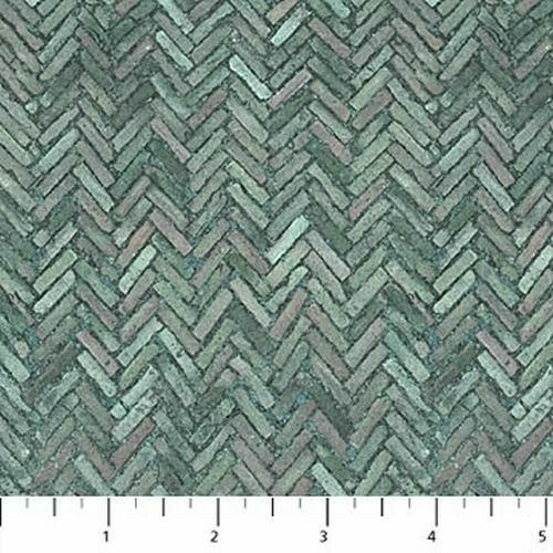 100% Cotton Flannel Outdoor Adventure - Dark Wedgewood Herringbone