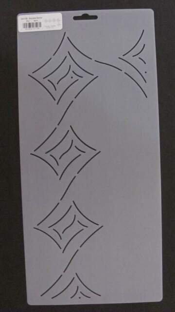 Square Spiral Stencil - 3 1/2