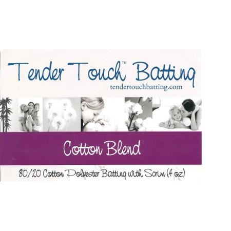 Tender Touch Batting 80/20 Polyester Batting Queen Size 90x108