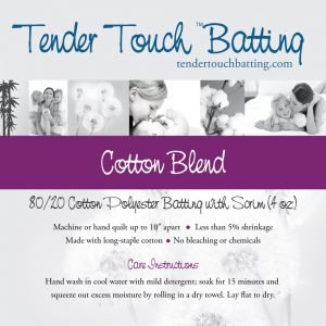 Tender Touch Batting - 120 wide from Cador
