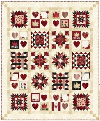 PRE-ORDER Quilt Along - With Glowing Hearts - OPTION 1