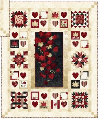 PRE-ORDER Quilt Along - With Glowing Hearts - OPTION 2
