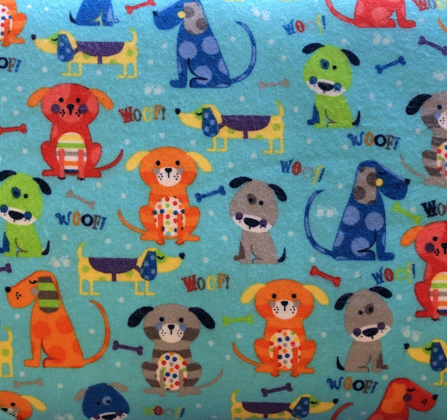 Aqua Woof Flannel