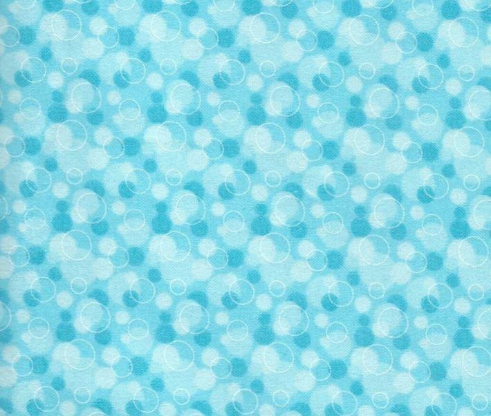 Aqua Bubbles Flannel