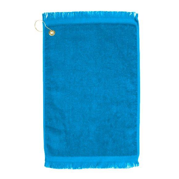 Premium Velour Golf Towel-Aqua