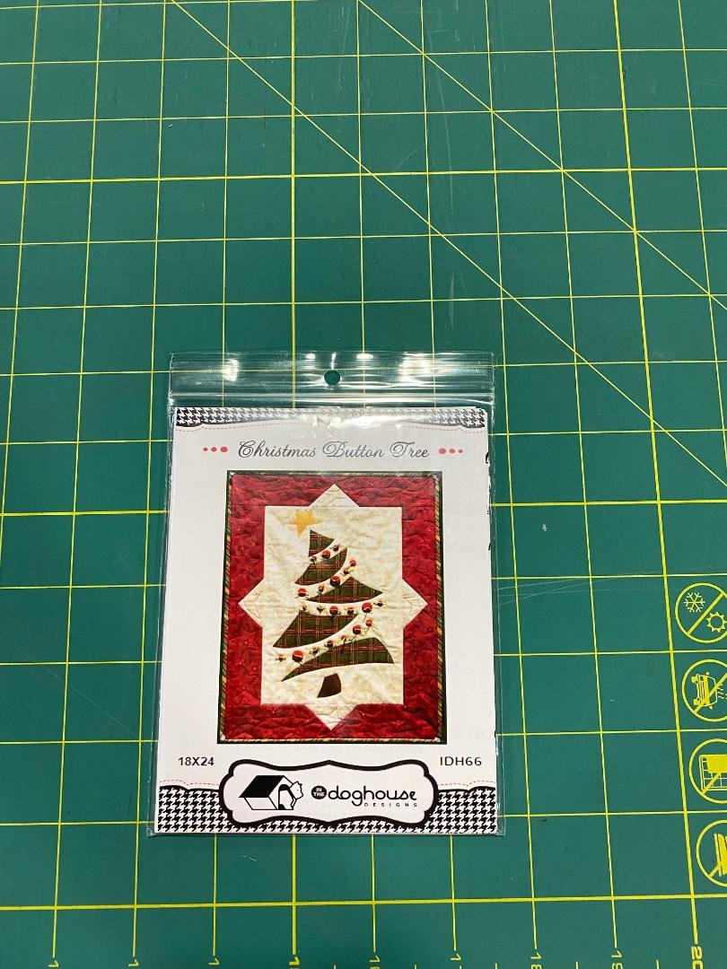 Christmas Button Tree Pattern