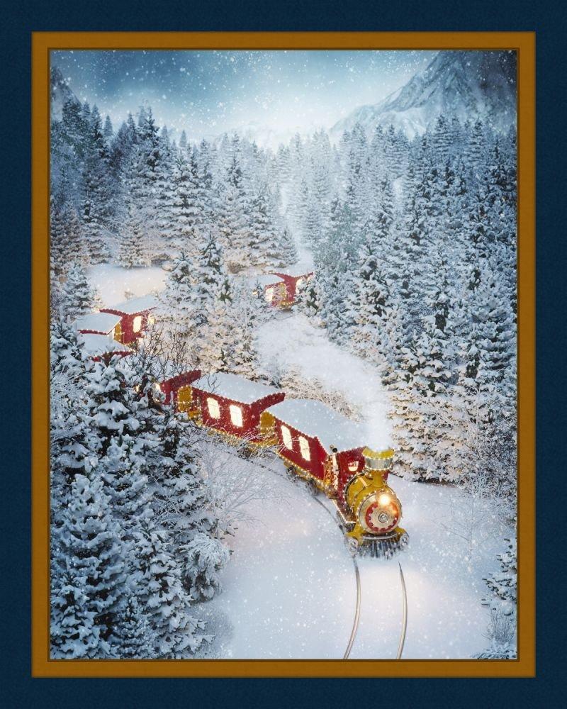 Christmas Train Panel