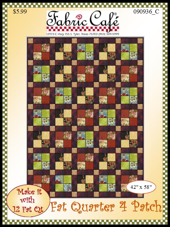 Fat Quarter 4 Patch Quilt Pattern