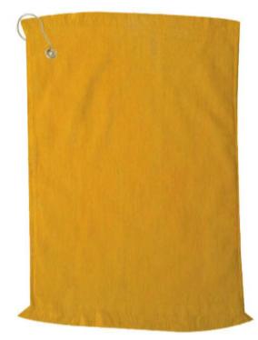 Premium Velour Golf Towel-Gold
