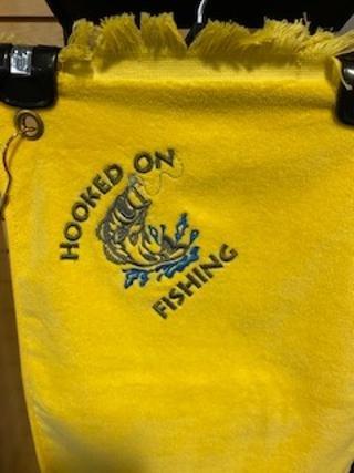 Fingertip Terrycloth Towel - Hooked on Fishing