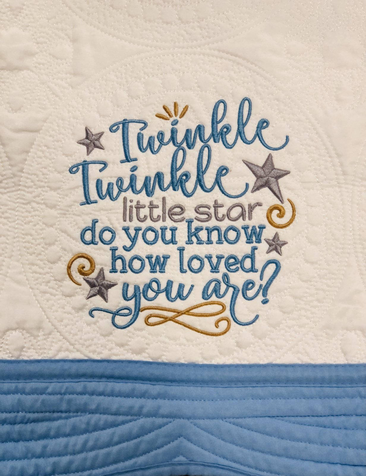 Heirloom Baby Quilts Twinkle Twinkle Little Star Do you Know How Loved your are?