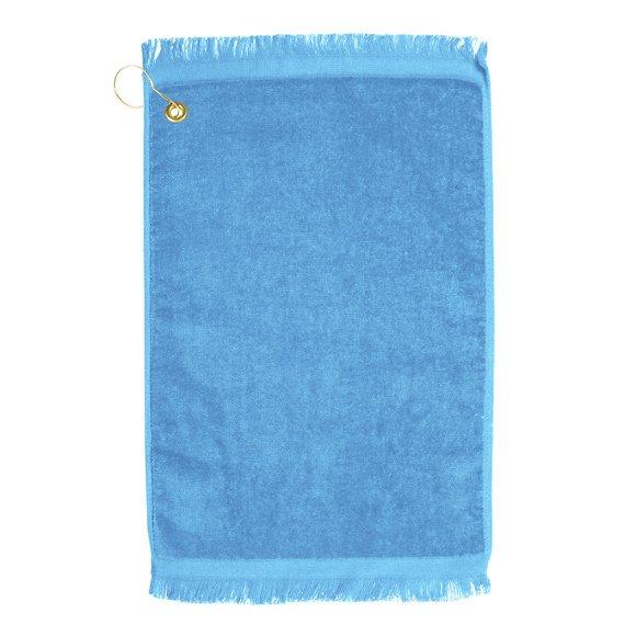 Premium Velour Golf Towel-Lt Blue