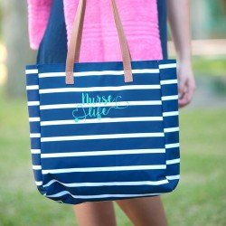 Nurse Life Embroidered Tote