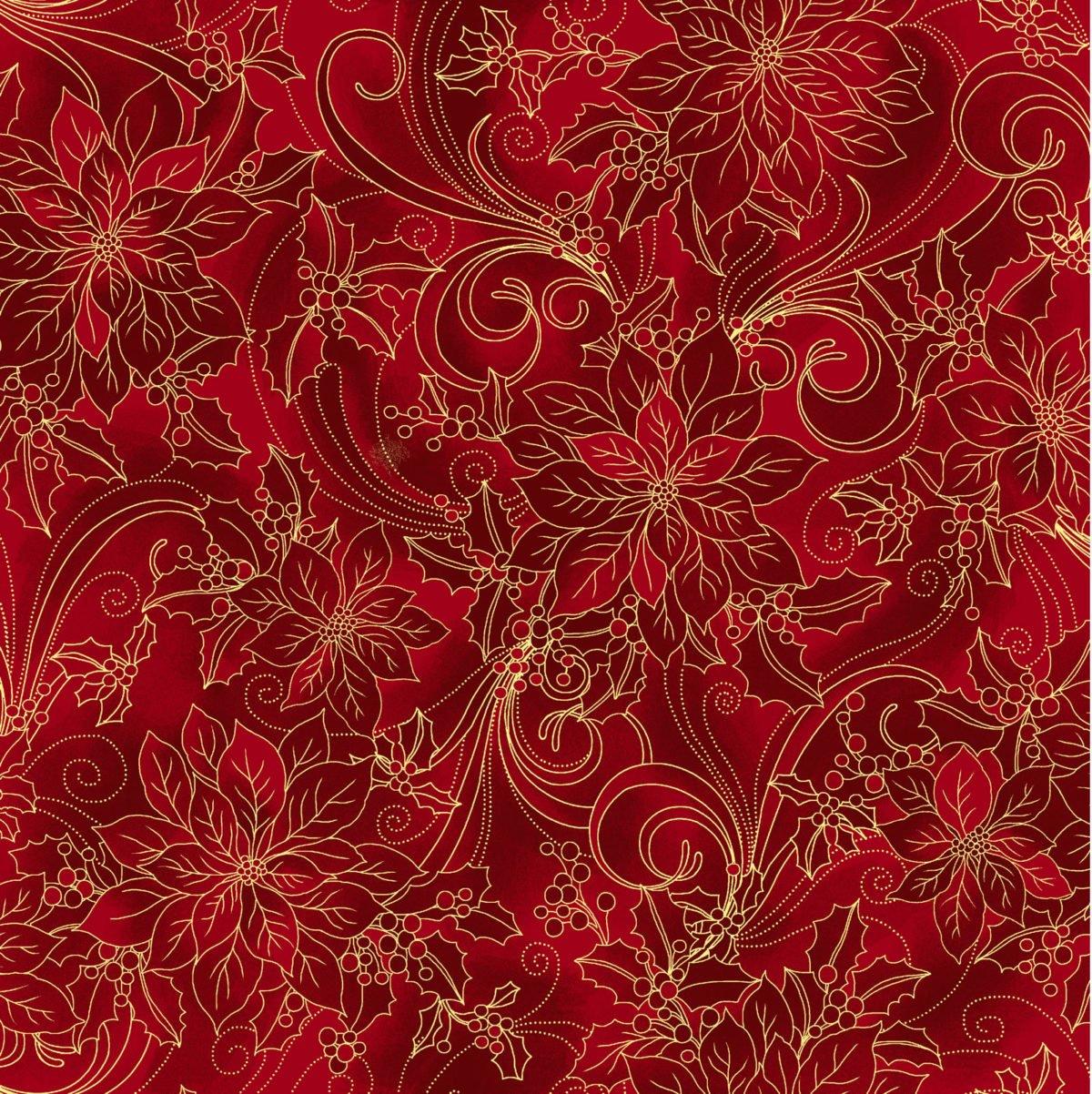 Noel Holly Red Poinsettia