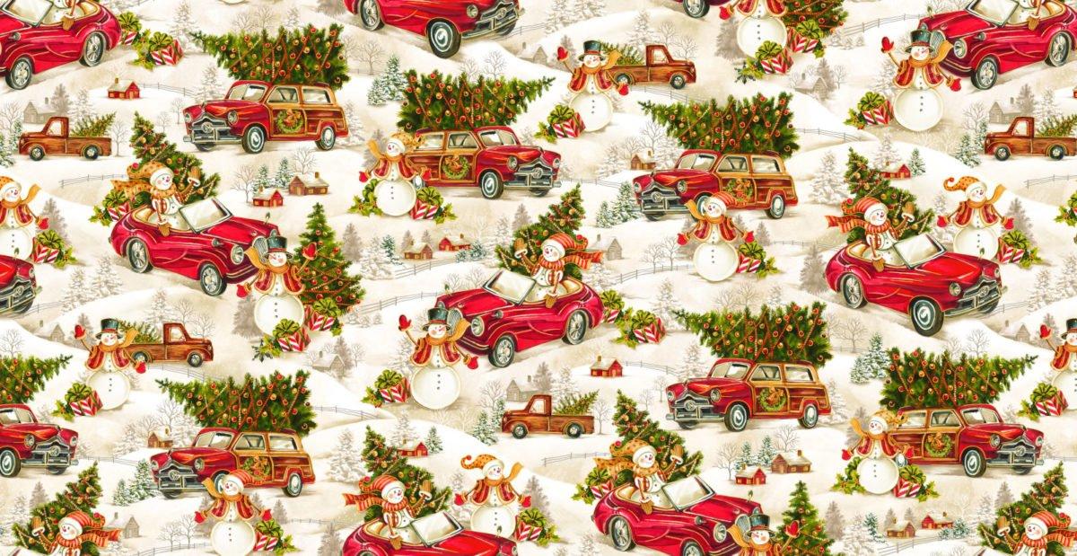 Noel Holly Snowmen in Cars