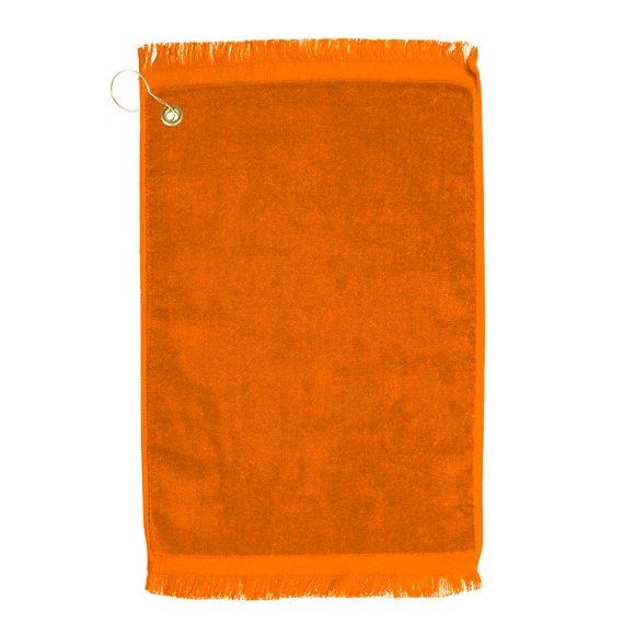 Premium Velour Golf Towel-Orange