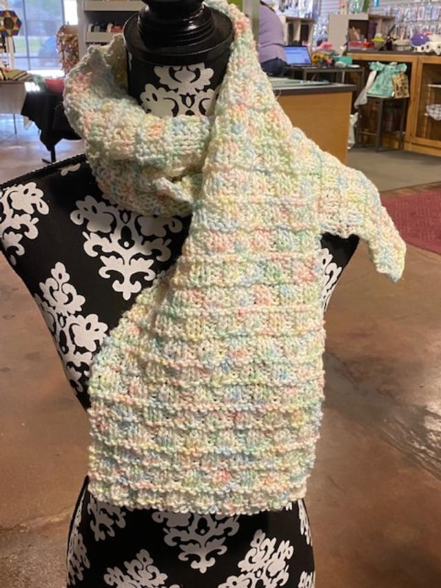 Knit Scarf - Brick & Mortar in Pastel 8x44