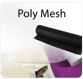 No-Show Fusible Poly Mesh Black Backing Stabilizer