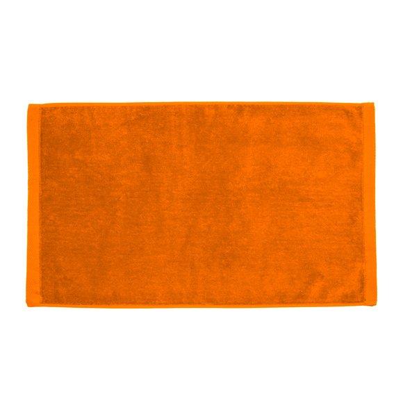 Premium Velour Hand Towel-Orange