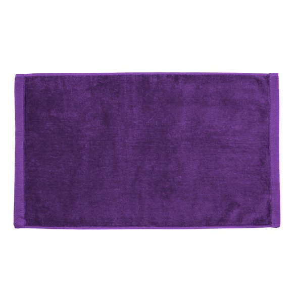 Premium Velour Hand Towel-Purple