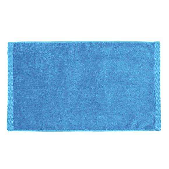 Premium Velour Hand Towel-Sky Blue