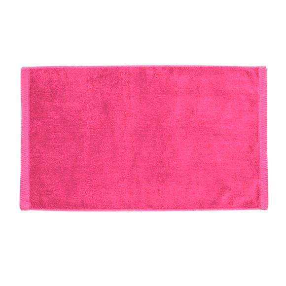 Premium Velour Hand Towel-Hot Pink