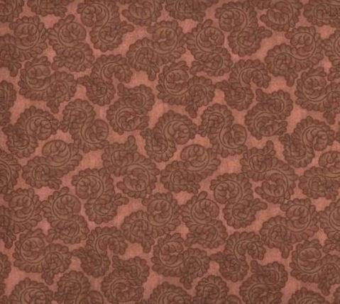 Flat Fold Paisley Rust