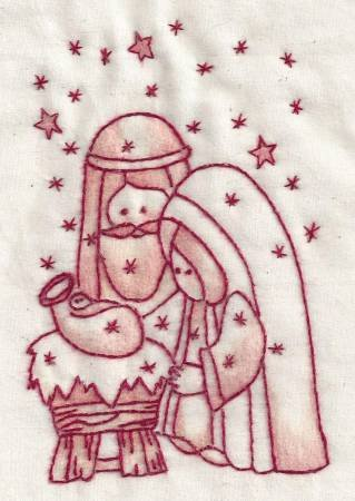 Nativity Redwork