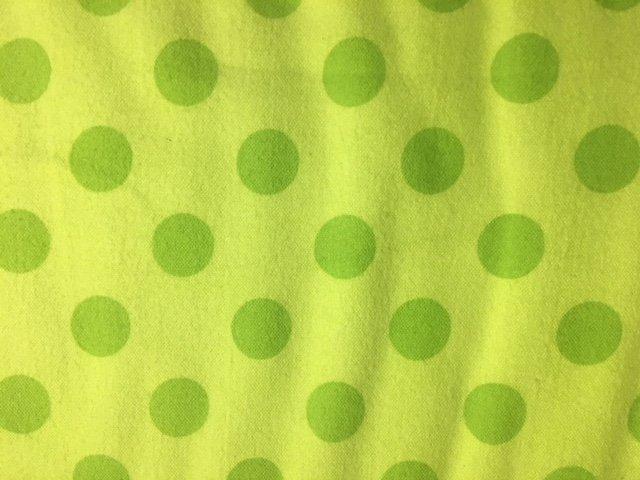 Medium Dots Flannel Lime
