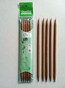 ChiaoGoo Double Point Bamboo Dark - 6