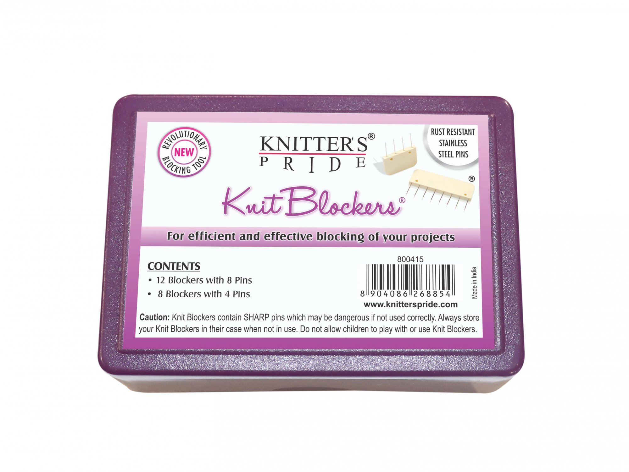 Knitter's Pride Blockers 20 pack (8pcs Knit Blockers w/ 4 Pins and 12pcs Knit Blockers w/ 8 Pins)