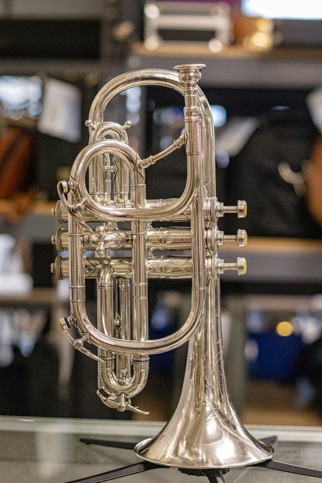 1896 H.N. White Bb & C Combination Cornet
