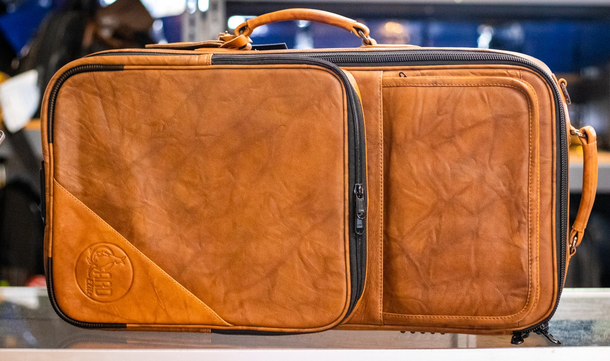 5-ECLN-LT GARD Elite - Compact Triple Trumpet Gig Bag in Marbled Tan Leather