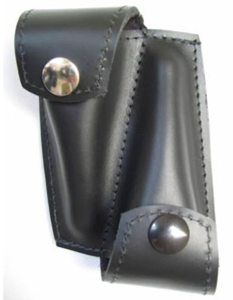 Torpedo Bag 2x trumpet mouthpiece Black Leather pouch