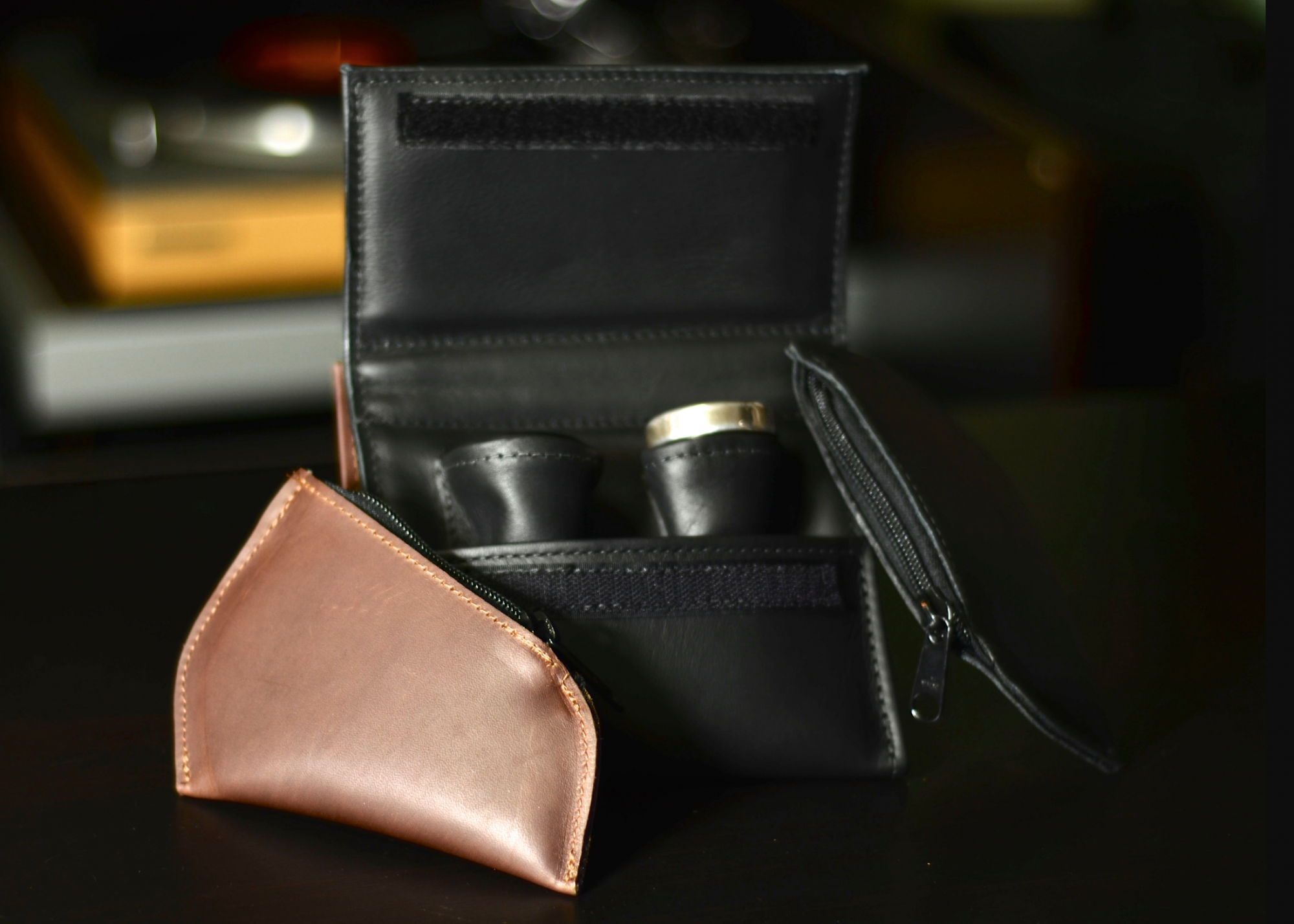 Torpedo Single Holster Black Leather Trombone