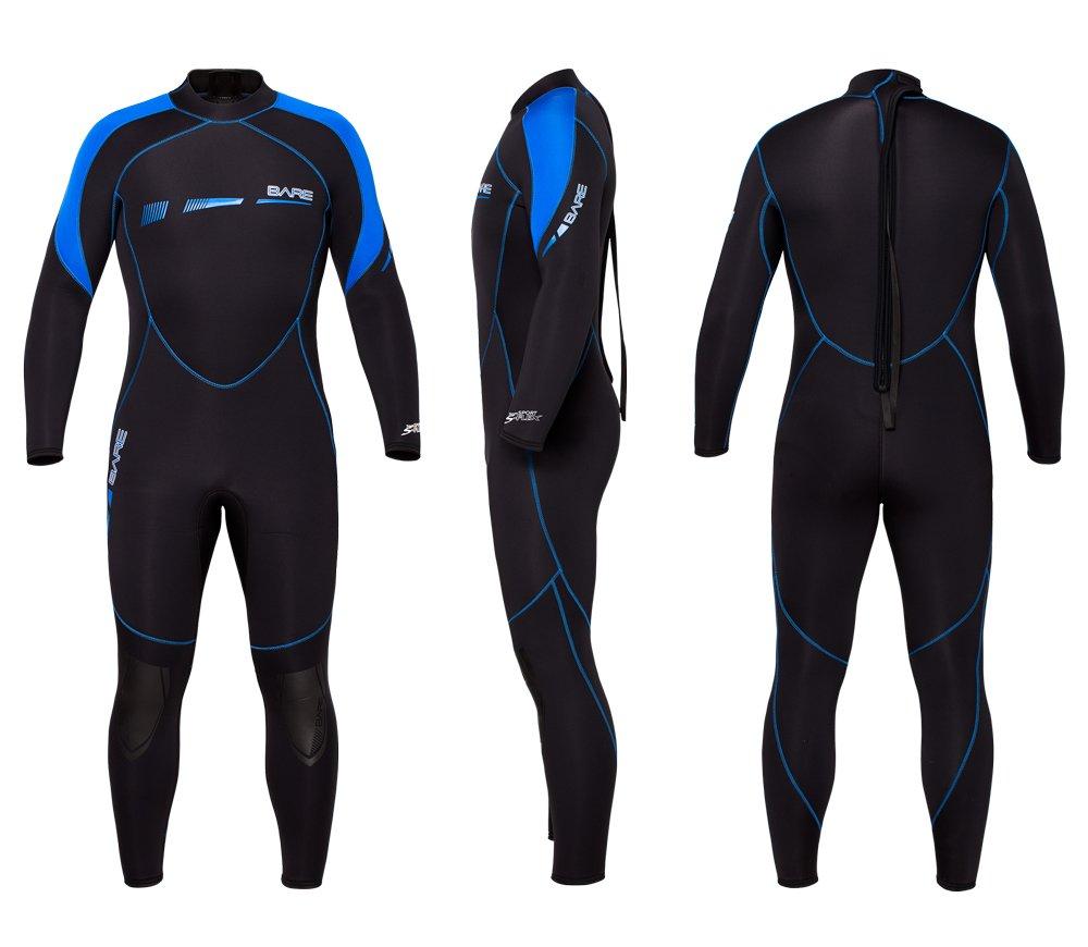 BARE Men's 5mm Sport S-Flex Full Wetsuit