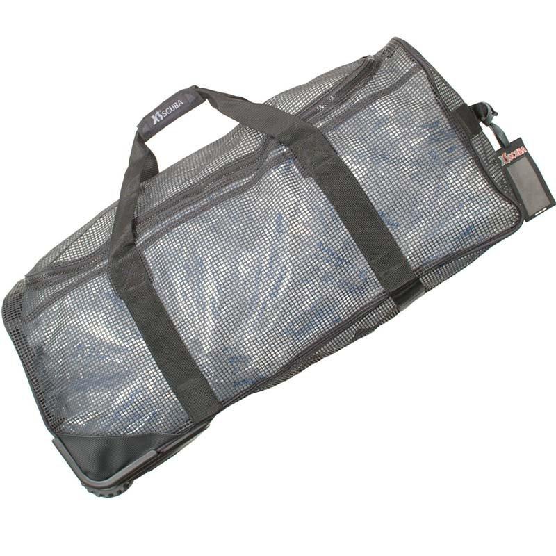 XS Scuba Mesh Gear Bag with Wheels