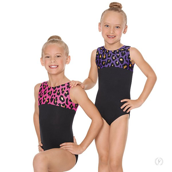 Child Luxe Leopard Leotard 22550