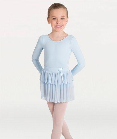Tiered Skirt Light Blue 3-4