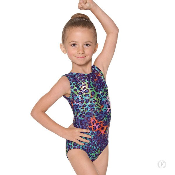 Child Disco Leopard Tank Leotard 3189