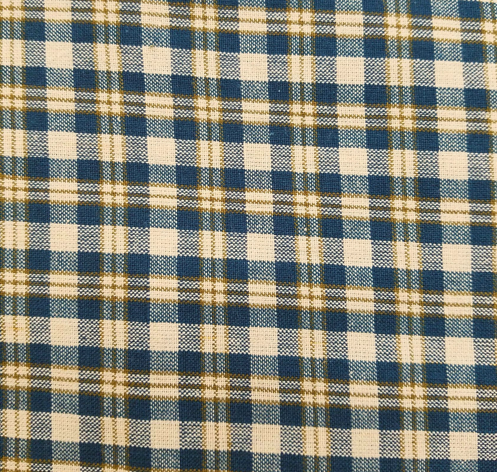 MDG Homespun - Blue/Tan Plaid