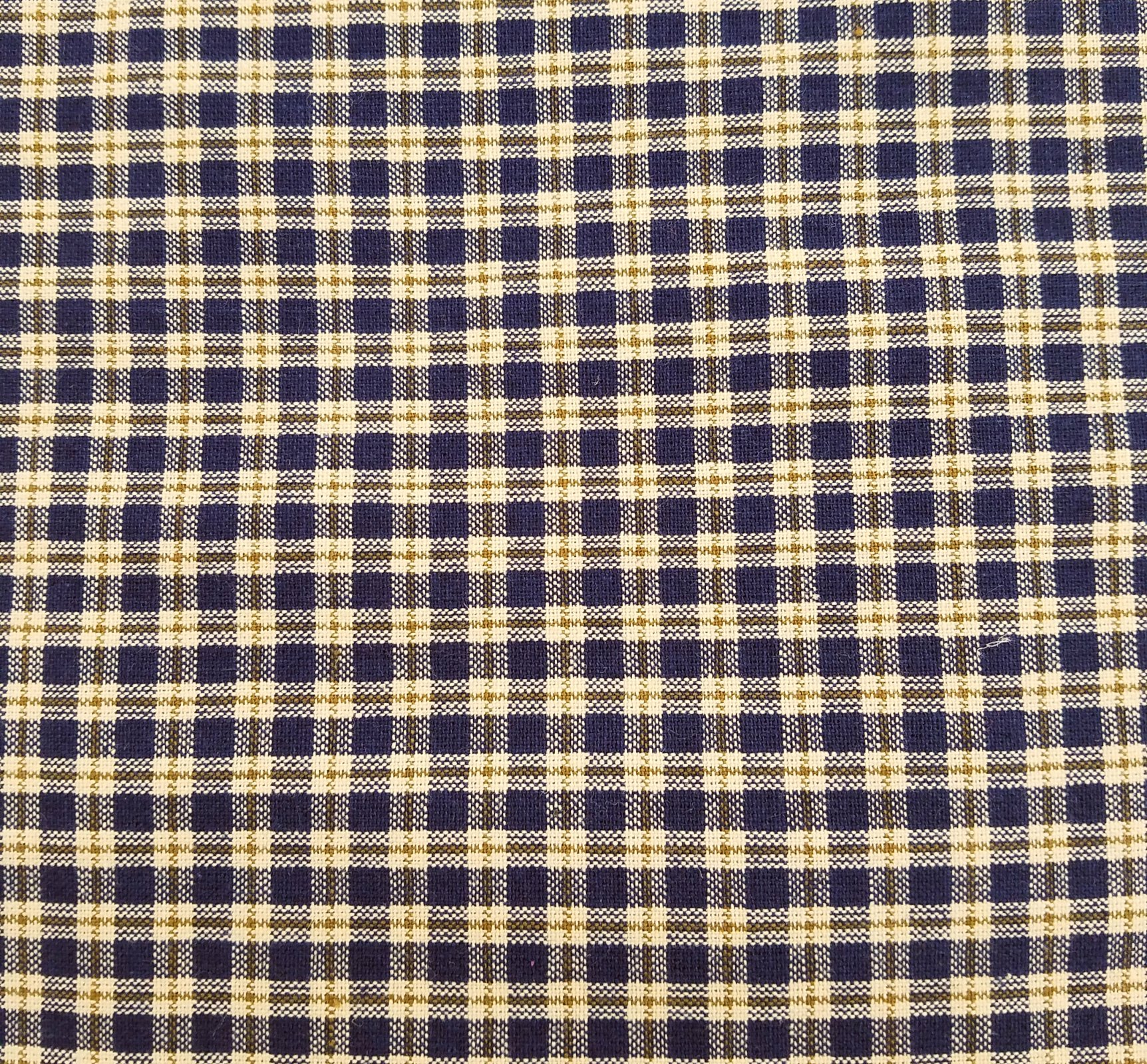 MDG Homespun - Navy Check