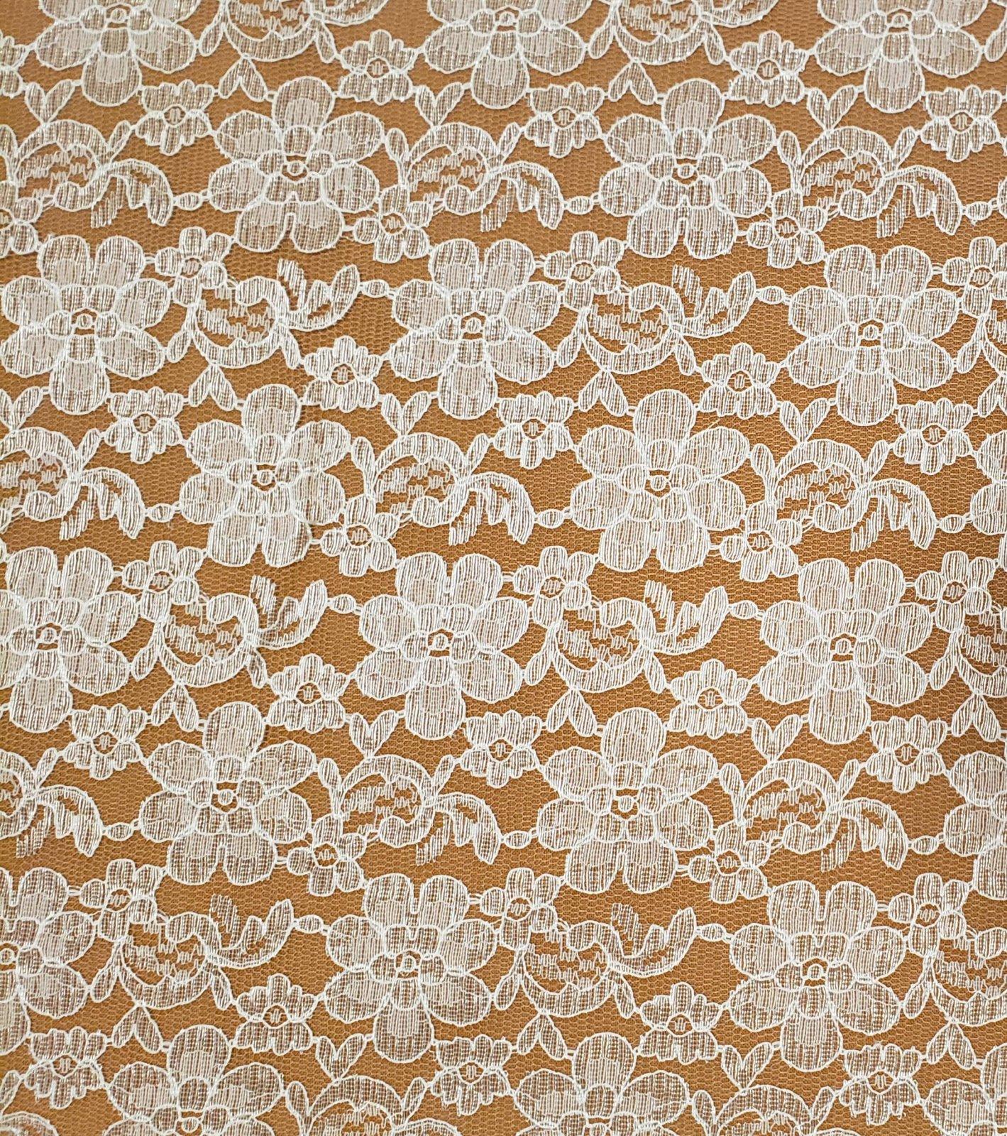 Raschel Allover Lace 60in - Cream