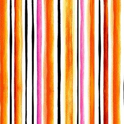 Brooke - Watercolor Stripe - Orange
